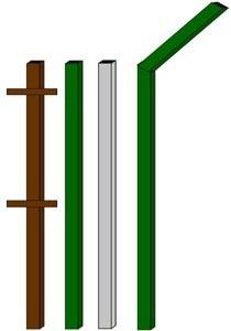 изготовление металлические столбы в Чите